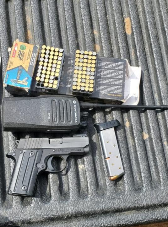 Asegura SSP a dos en posesión de un arma de fuego y 137 cartuchos útiles