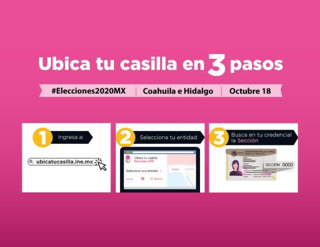 Página del INE para ubicar domicilio de la casilla donde vamos a votar es muy sencillo