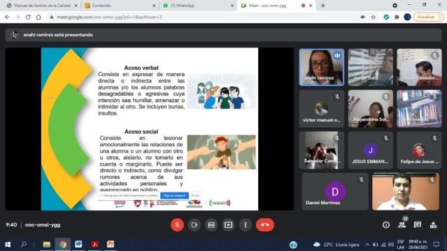 Con taller virtual, sensibilizan a docentes de Parácuaro contra violencia escolar