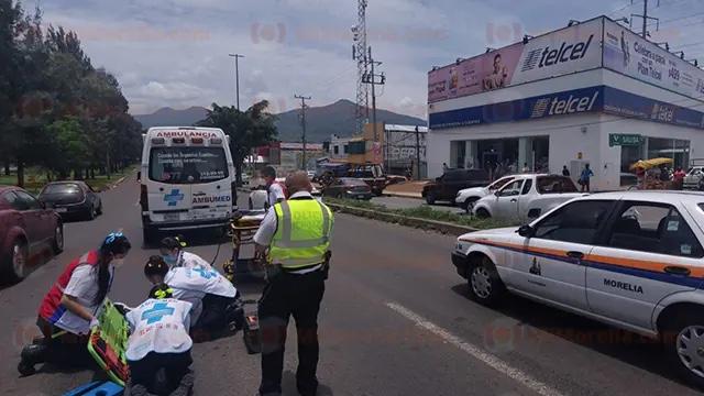 Transeúnte es arrollado en el Libramiento Norte de Morelia