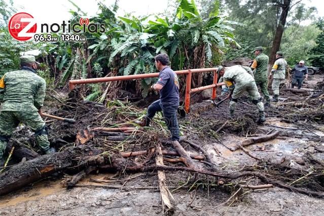 Lluvias azotan a la comunidad de Los Pastores; Ejército activa Plan DN-III-E