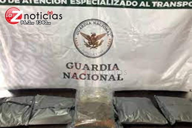 Guardias nacionales aseguran marihuana oculta entre tabaco y semillas