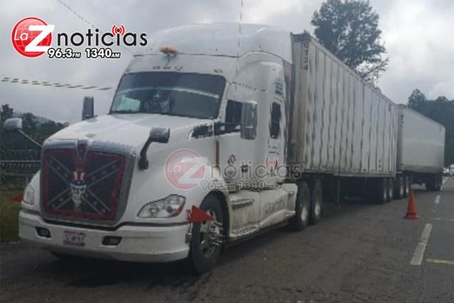 En Uruapan, asegura SSP uno en posesión de un tractocamión con reporte de robo