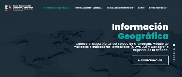 Entra en operación el Centro de Información Estadística y Geográfica del Estado de Michoacán