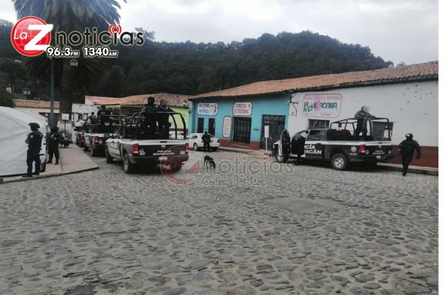 SSP, GN y Policía local refuerzan las tareas de seguridad en Tlalpujahua