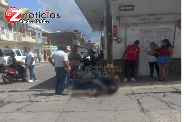 Ejecutan a un hombre en la vía pública de Sahuayo