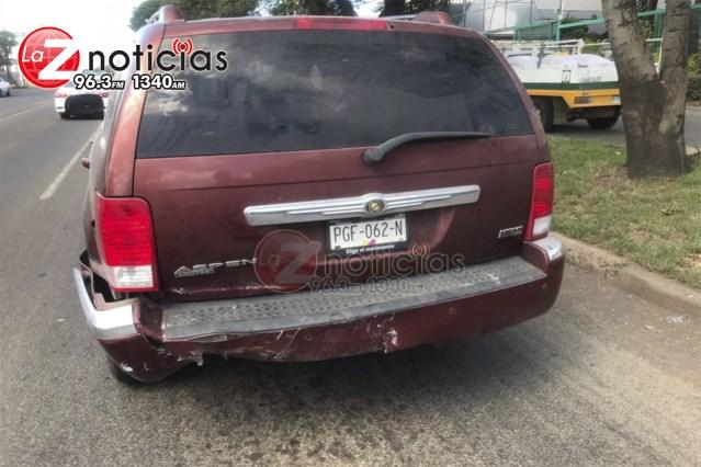 Se registra carambola vehicular en la Av. Madero Poniente de Morelia