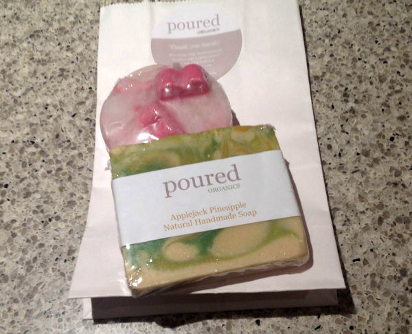 Sample soaps and a personalised label! Neat!
