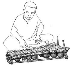 balafon joueur dessin