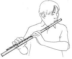 flute trav joueur dessin