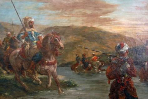 passage d'un gué au Maroc Delacroix