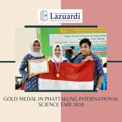 SMA Lazuardi team got the Gold Medal in Phattalung International Science Fair 2020