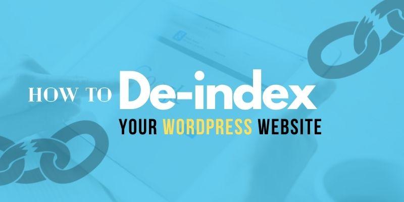 de-index-your-wordpress-website