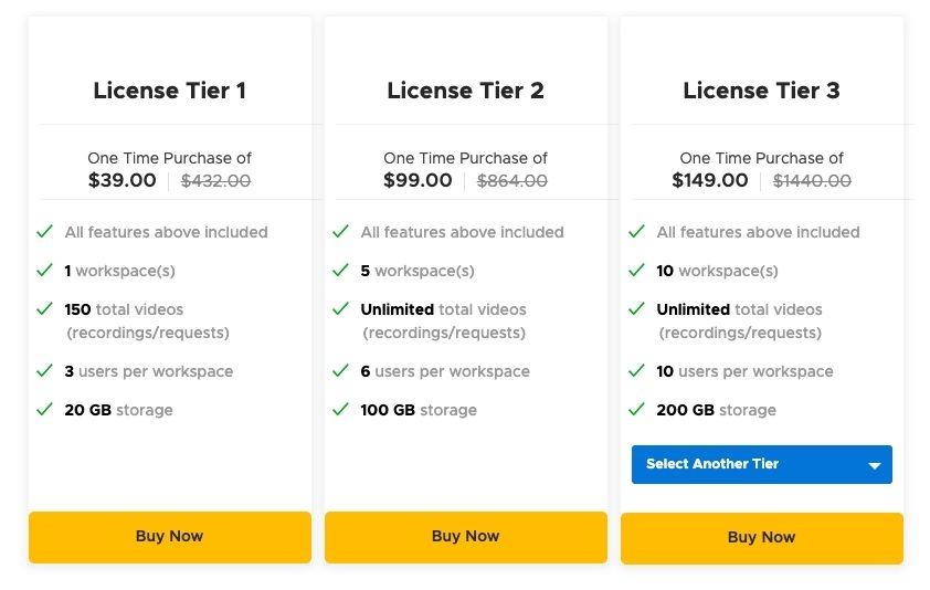 sendspark-lifetime-deal-pricing