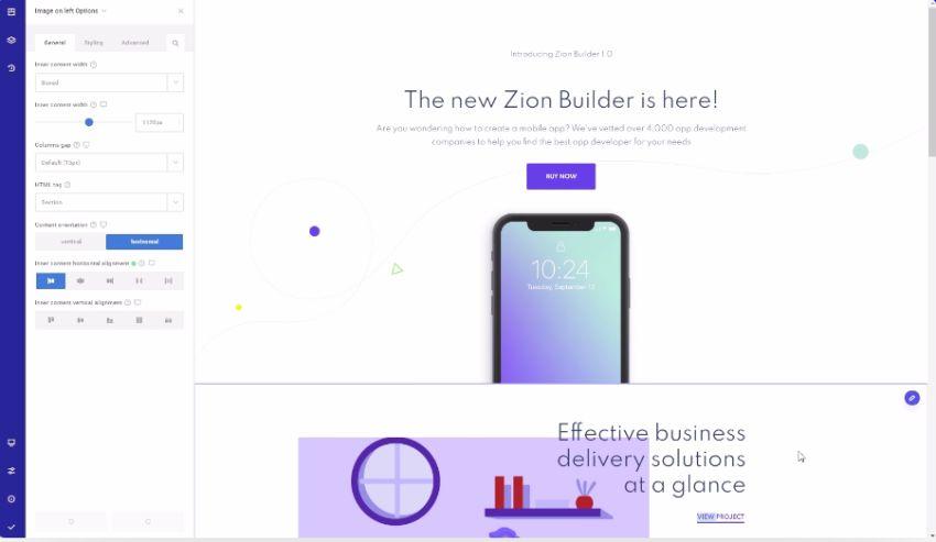 Zion-Builder-Features