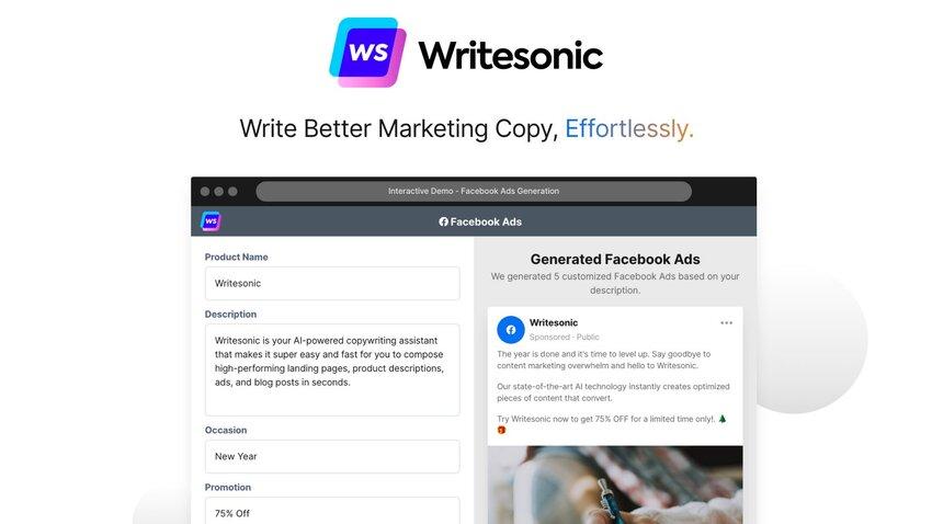 Writesonic-lifetime-deal