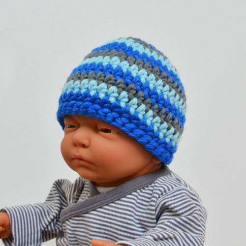 Babymuts-blue stripes