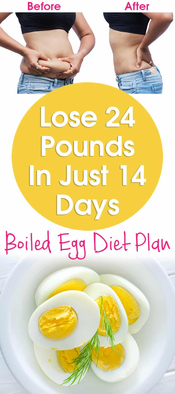 Lose 24 Pounds In Just 14 Days – Boiled Egg Diet 2 Weeks Plan