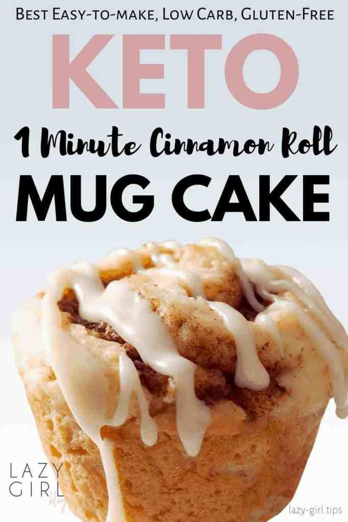 1 Minute Keto Cinnamon Roll Mug Cake