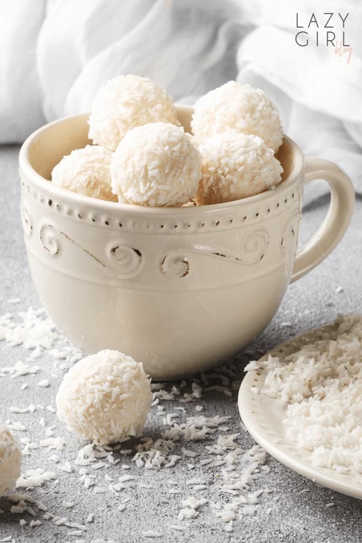 No Bake Keto Coconut Balls.