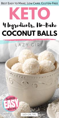 No Bake Keto Coconut Balls Recipe.