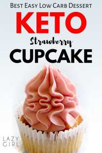 Best Keto Strawberry Cupcakes