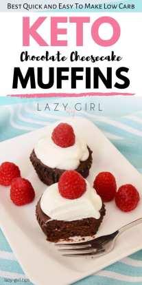 Keto Chocolate Cheesecake Muffins