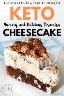 This keto-friendly tiramisu cheesecake is a must-try. No need to feel deprived while on a keto diet with a delicious recipe like this. This delicious tiramisu cheesecake is a perfect combination of two classic desserts in one low carb and gluten-free treat... #easydessert #ketodessert #ketotiramisu #ketocheesecake #bestketocake #lazygirltips