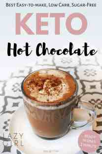 It truly is the perfect keto sugar-free hot chocolate recipe for a cold winter day. This quick and easy hot chocolate can be part of a low-carb, keto, diabetic, gluten-free, grain-free, Atkins or Banting diet. There is even a dairy-free option!