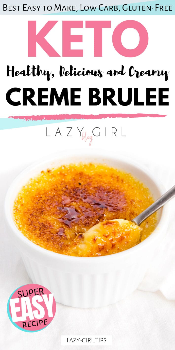 Keto Creme Brulee recipe.