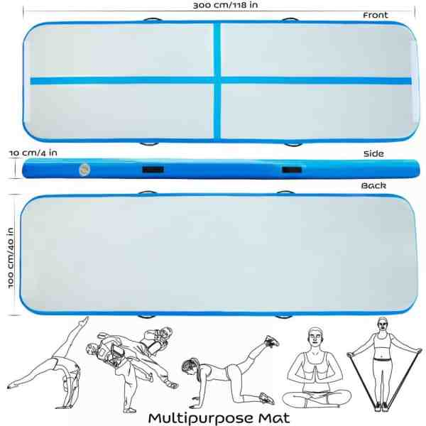Air Track Tumbling Gymnastics Mat Specifications