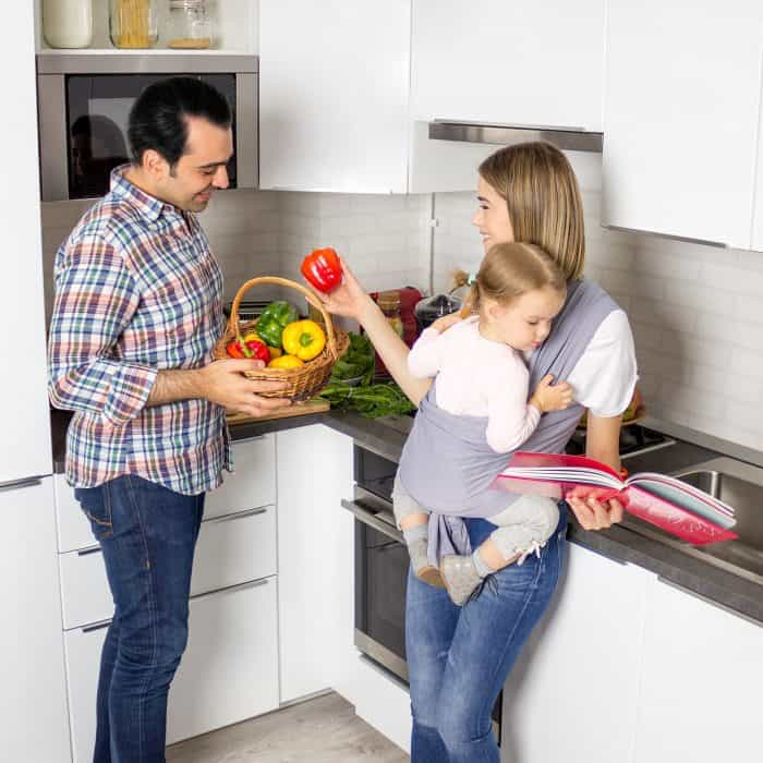 Baby Sling Wrap Use at home