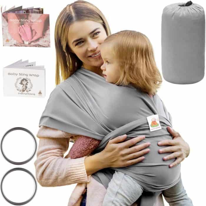 6a009dd4393 Organic Baby Sling Wrap - Baby Sling Carrier for Newborns   Infants