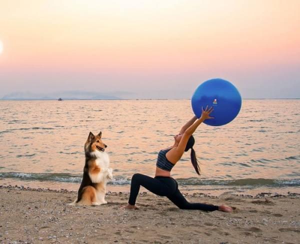 Exercise Ball Sample Beach Use