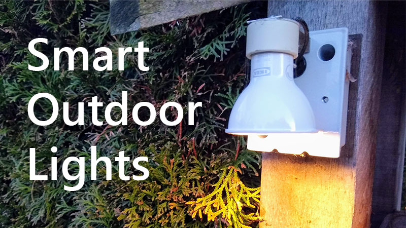 smart lights for outdoors what are