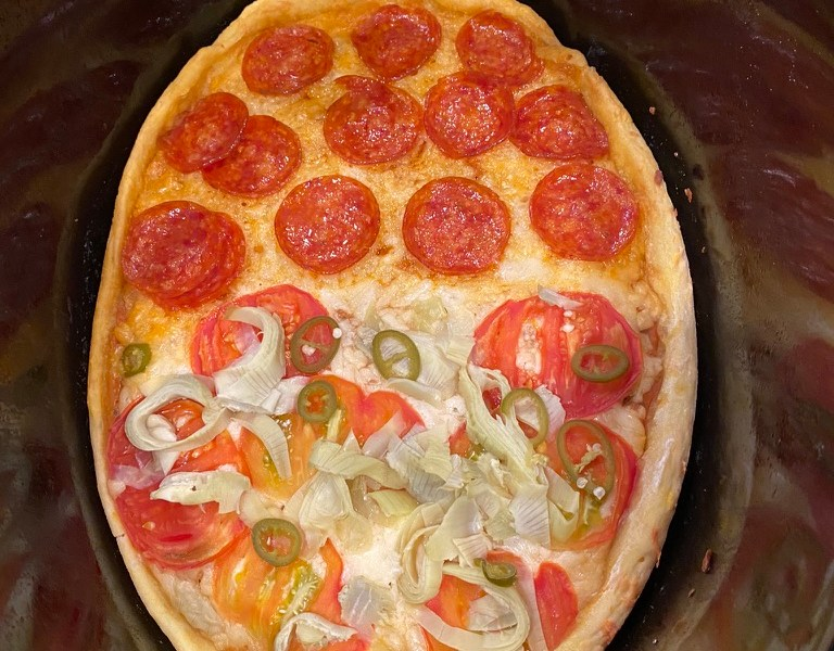 Pizza in the crockpot