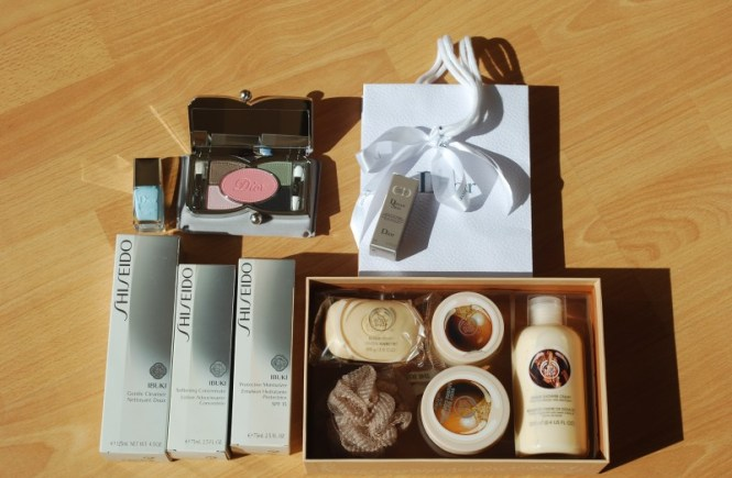productos dior versailles pop shiseido ibuki the body shop karite