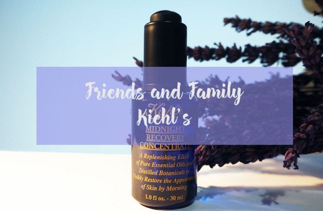 friends and family kiehl's