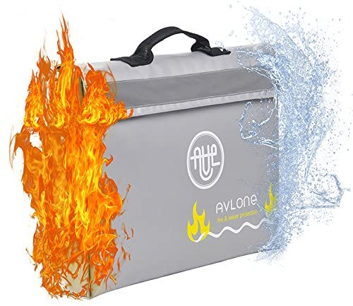 Fireproof and Waterproof Money and Important Documents Bag