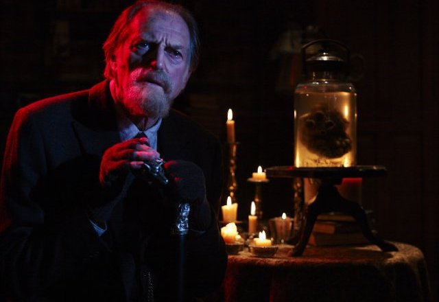 David Bradley as Setrakian next to his vampire heart in The Strain. Photo by 3 - © Copyright 2014, FX Networks. All rights reserved