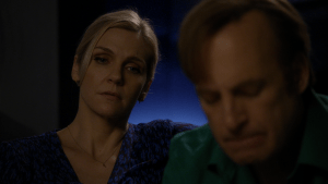 Kim (Rhea Seehorn) and Jimmy (Bob Odenkirk) can't see eye to eye. Better Call Saul Expenses