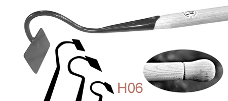 HO6 Short Swan-Necked Draw Hoe