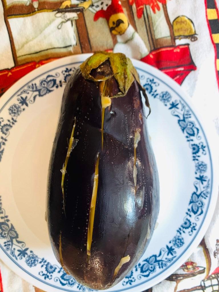 eggplant slited