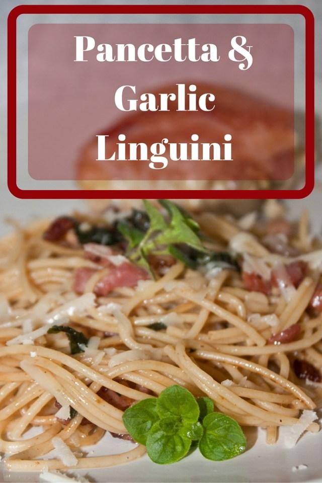 pancetta garlic pasta