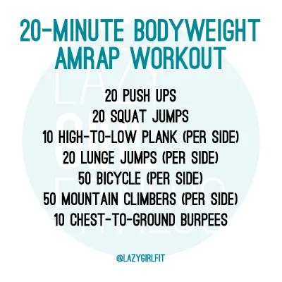 amrap workouts  so bad they're good  lazy girl fitness