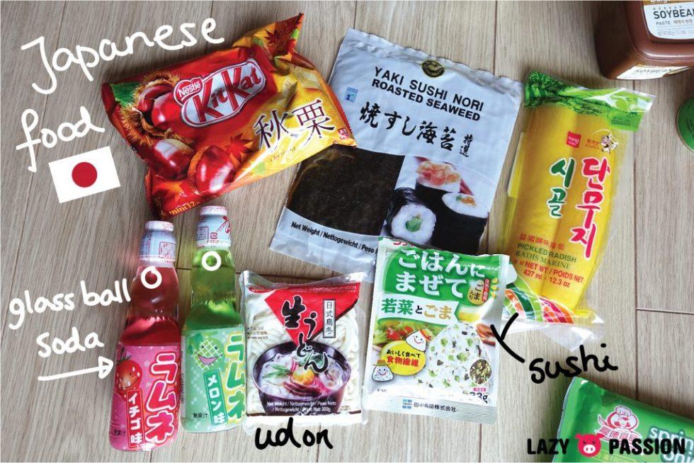 Amazing oriental haul Japanese food