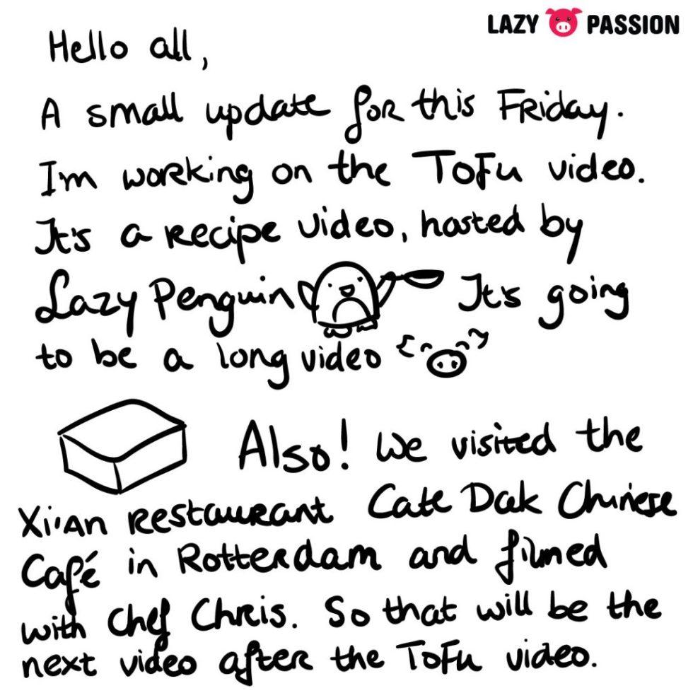 Tofu Video letter