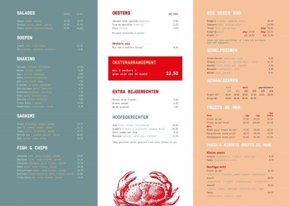 The Fish Market menu 2019