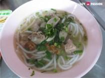 Pork noodles breakfast