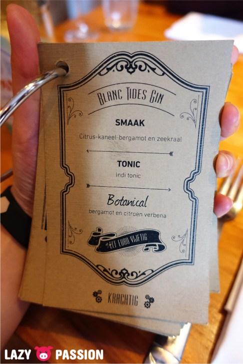 Just Meet Gin tonic menu